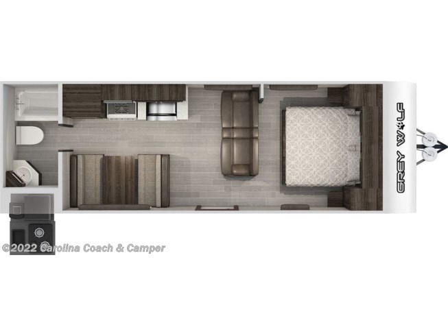 2021 Forest River Cherokee Grey Wolf Midwest 24JS - New Travel Trailer For Sale by Carolina Coach & Marine in Claremont, North Carolina