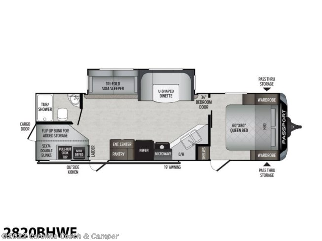 2021 Keystone Passport GT Series 2820BHWE - New Travel Trailer For Sale by Carolina Coach & Marine in Claremont, North Carolina