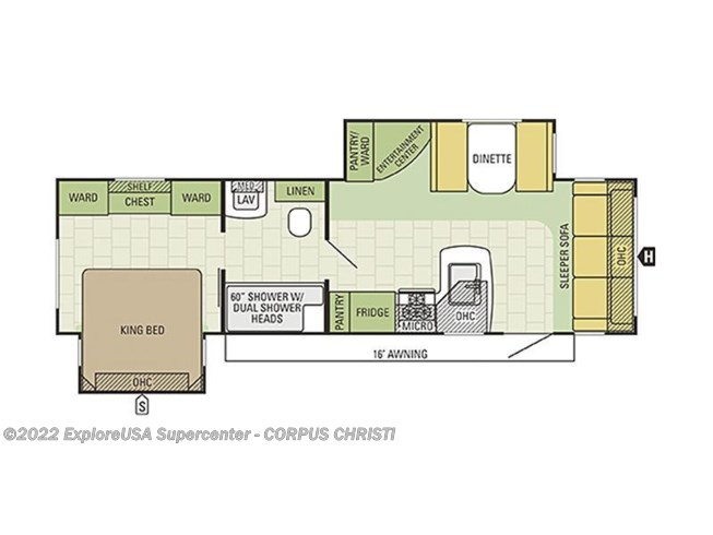 2017 Starcraft Autumn Ridge 286KBS floorplan image