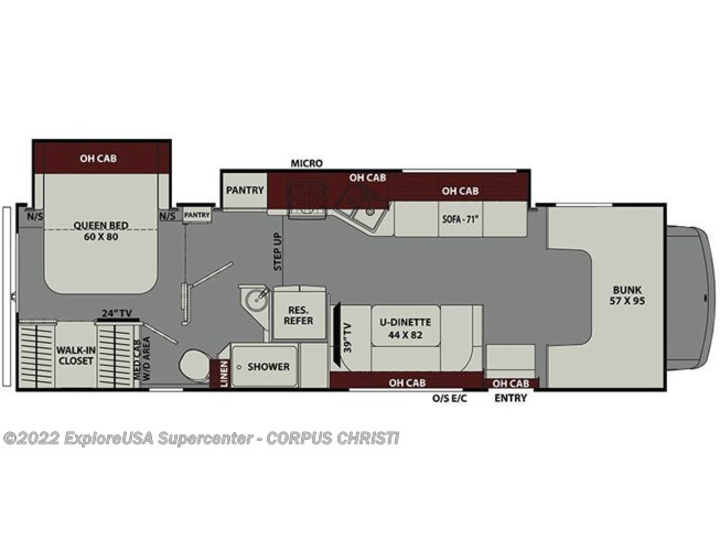 2019 Coachmen Leprechaun 311FS floorplan image