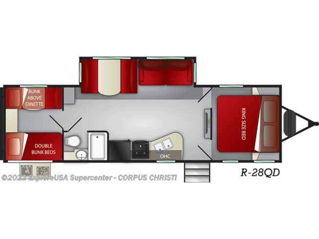 2021 Cruiser RV Radiance R28QD - New Travel Trailer For Sale by CCRV, LLC in Corpus Christi, Texas features AM/FM/CD, Heated Underbelly, Black Tank Flush, Solar Prep, Solid Surface Countertops