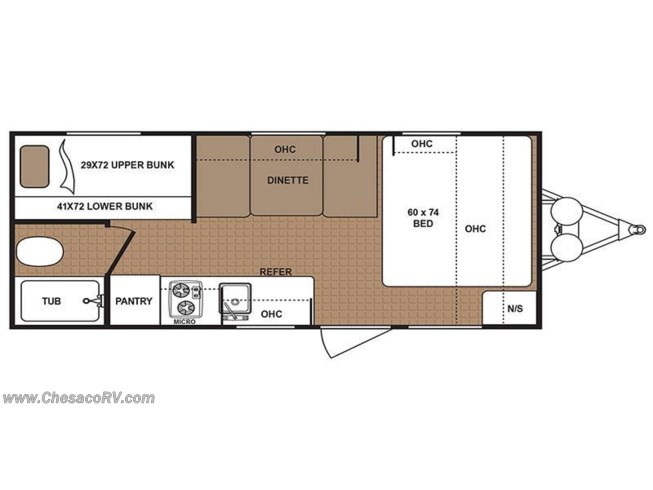 2018 Dutchmen Aspen Trail 1700BH floorplan image