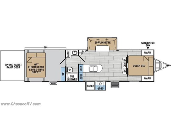 2018 Forest River XLR Hyperlite 30HDS floorplan image