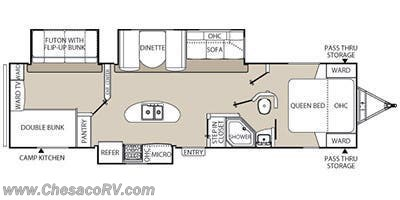 2013 Coachmen Freedom Express 320 BHDS floorplan image