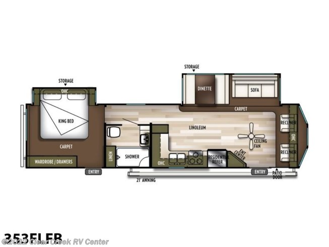 2020 Forest River Wildwood DLX 353FLFB - New Park Model For Sale by Clear Creek RV Center in Silverdale, Washington