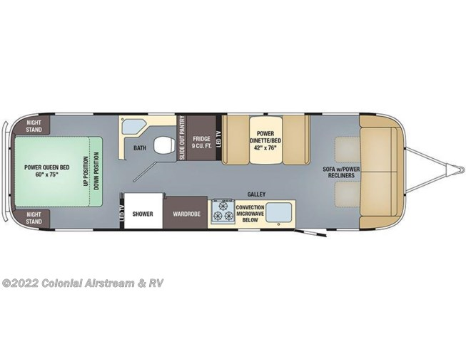2018 Airstream Classic 30RB Queen floorplan image