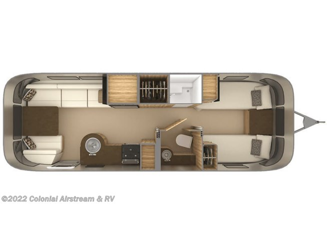 2019 Airstream Flying Cloud 27FBT Twin floorplan image