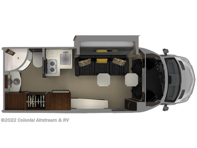 2019 Airstream Atlas 24MS Murphy Suite floorplan image