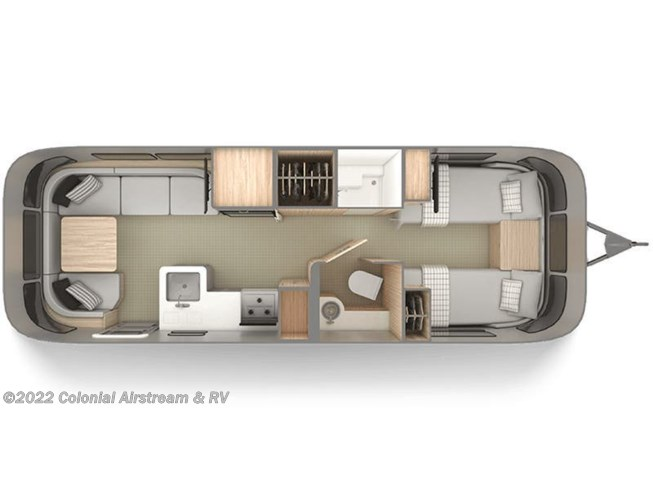 2020 Airstream Globetrotter 27FBT Twin floorplan image