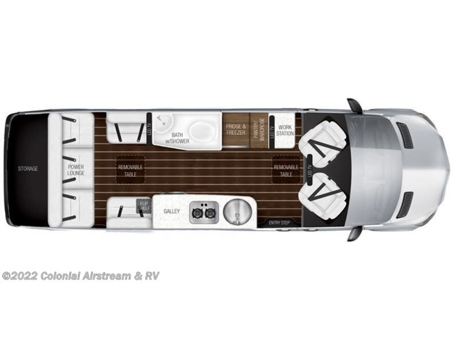2018 Airstream Interstate Grand Tour EXT AS floorplan image