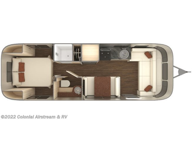 Floorplan of 2020 Airstream International Serenity 28RBQ Queen