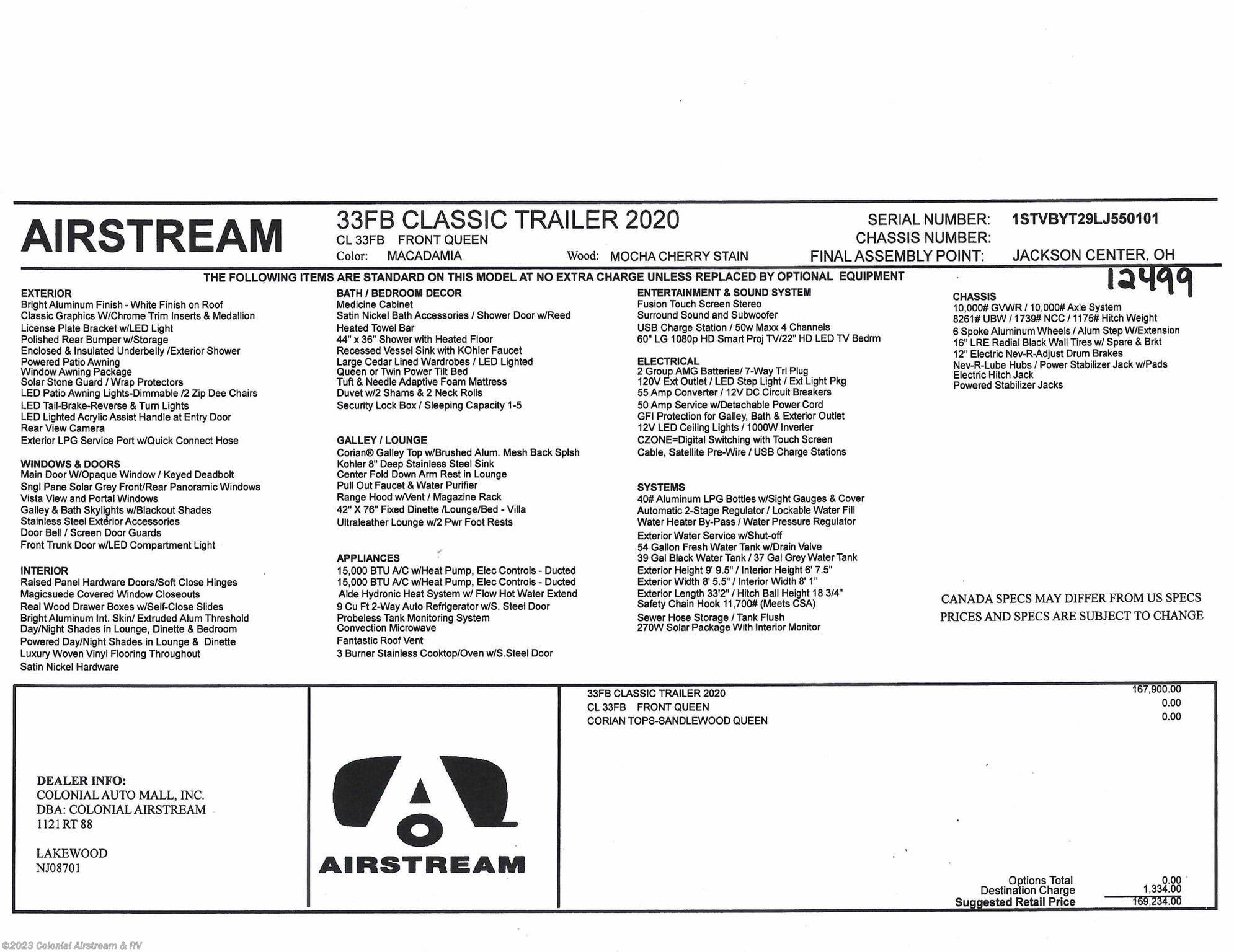1995 Airstream Wiring Harnes