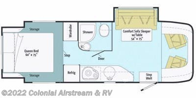 Floorplan of 2012 Itasca Navion iQ 24G