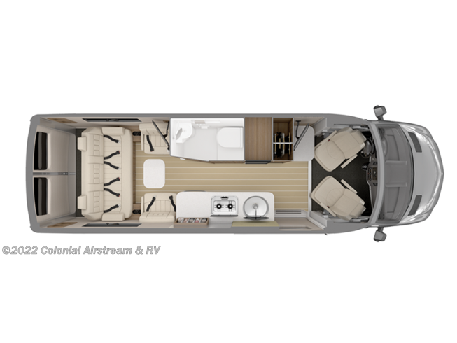 Floorplan of 2021 Airstream Interstate Tommy Bahama Grand Tour EXT 4x4