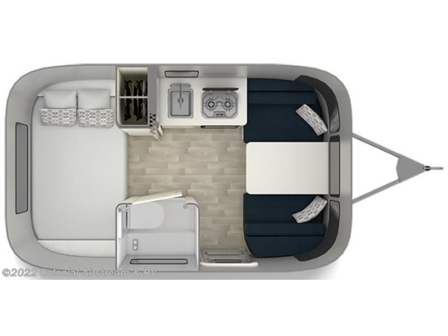 Floorplan of 2021 Airstream Bambi 16RB
