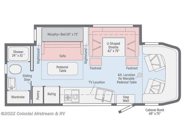 Floorplan of 2021 Winnebago Navion 24D