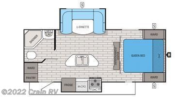2016 Jayco White Hawk 24RDB floorplan image