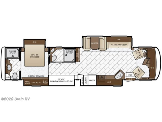 2017 Newmar Canyon Star 3925 floorplan image