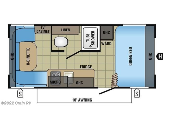 2017 Jayco Jay Flight SLX 175RD floorplan image
