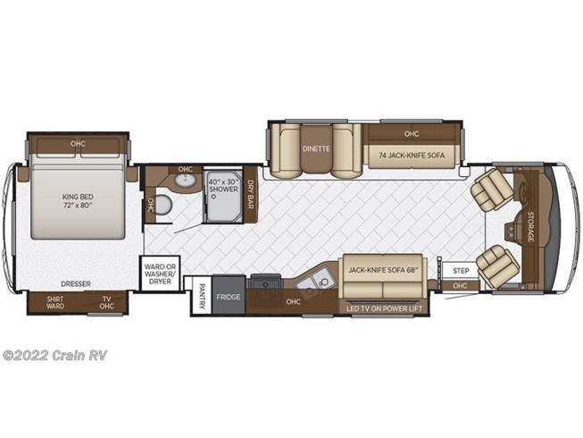 2019 newmar rv bay star 3626 for sale in little rock ar 72209 2019 newmar bay star 3626 floorplan image asfbconference2016 Images