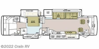 2011 Tiffin Phaeton 40 QBH floorplan image