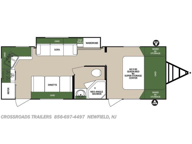 2016 Forest River Surveyor 264RKS floorplan image