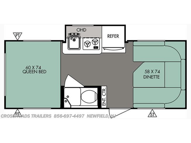 2016 Forest River R-Pod RP-178 floorplan image
