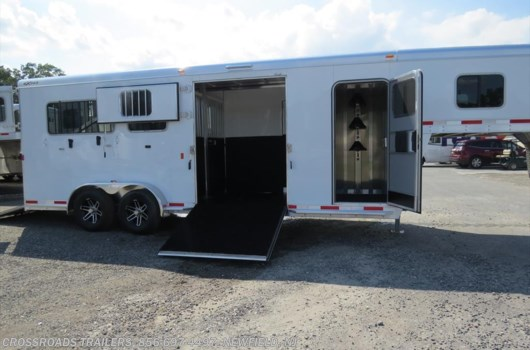 2 Horse Trailer - 2020 Exiss Gooseneck 2 + 1 GN STRAIGHT LOAD w/tack room available New in Newfield, NJ
