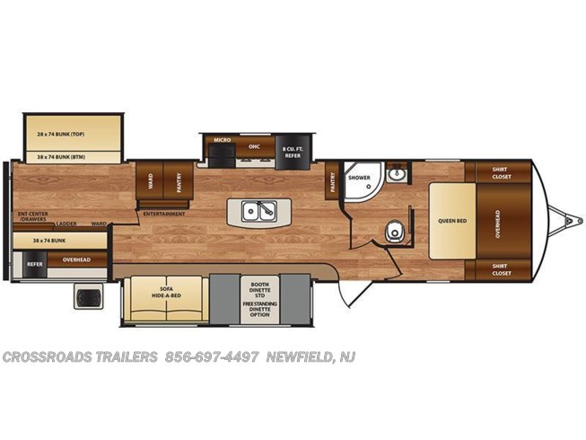 2017 Forest River Wildcat 343BIK floorplan image