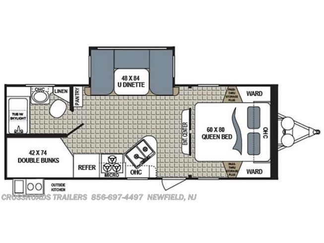 2017 Dutchmen Kodiak 243BHSL floorplan image