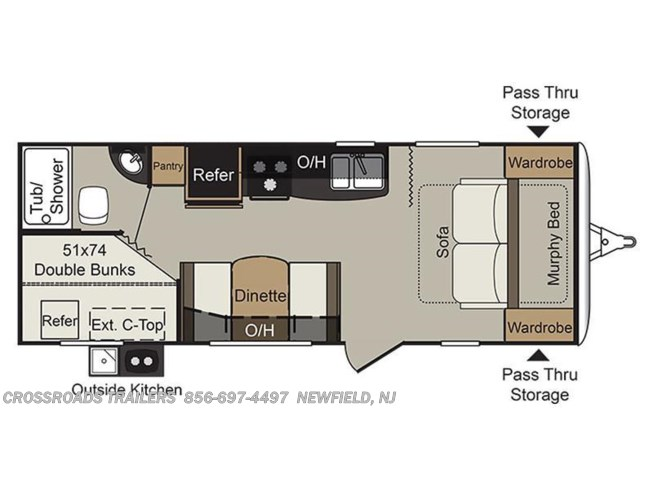 2017 Keystone Passport Ultra Lite Express 239ML floorplan image