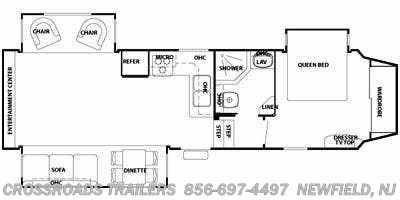 2009 Forest River Cedar Creek Silverback 30WRE floorplan image