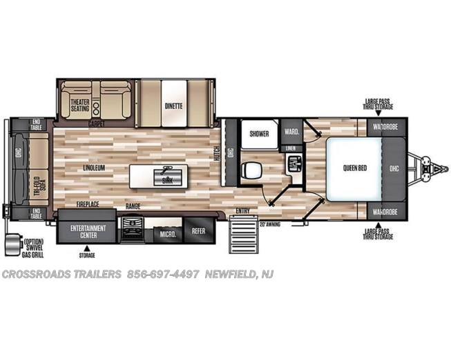 Floorplan of 2020 Forest River Salem Hemisphere GLX 273RL