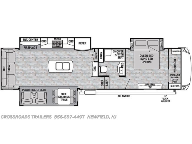 Floorplan of 2020 Forest River Cedar Creek Silverback 31IK