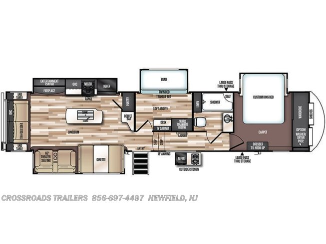 Floorplan of 2020 Forest River Salem Hemisphere GLX 369BL