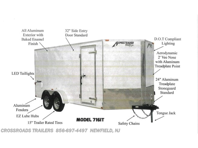 2020 Homesteader Intrepid 7x14 Enclosed Cargo Trailer - New Cargo Trailer For Sale by Crossroads Trailer Sales, Inc. in Newfield, New Jersey