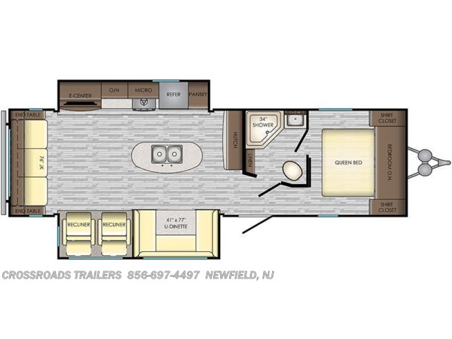 Floorplan of 2020 CrossRoads Zinger ZR292RE