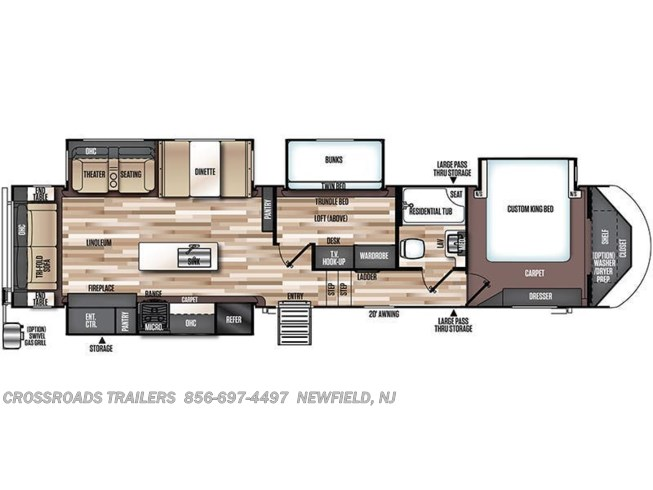 Floorplan of 2020 Forest River Salem Hemisphere GLX 370BL