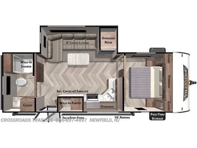 Floorplan of 2021 Forest River Salem 22RBS