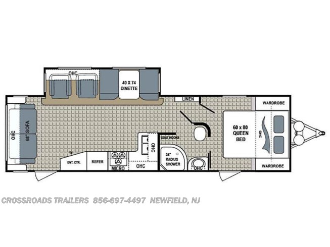 Floorplan of 2018 Dutchmen Kodiak Ultimate 290RLSL
