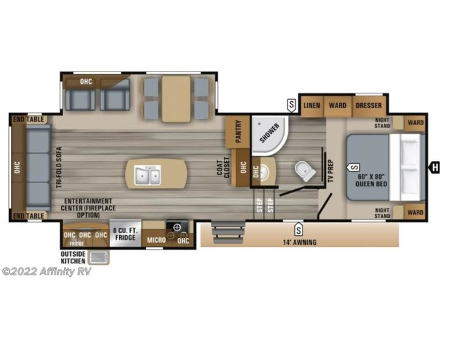 2019 Jayco Eagle HT 28.5RSTS - New Fifth Wheel For Sale by Affinity RV in Prescott, Arizona