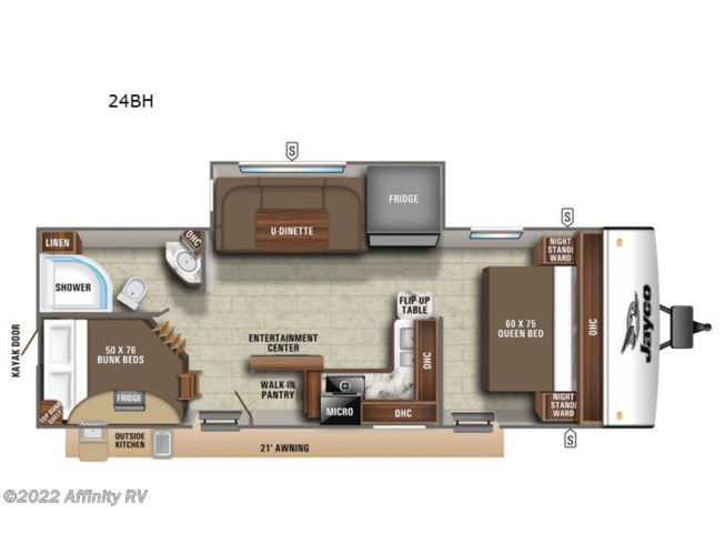 New 2021 Jayco Jay Feather 24BH available in Prescott, Arizona