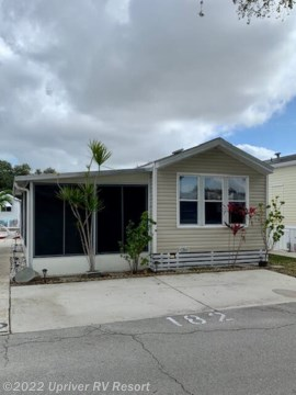 <p>1991 Park model with Lanai, one bedroom, one bath, kitchen has gas stove, refrigerator is new, washer & Dryer. Couch in living room opens to a bed. Furnishing included. </p>
